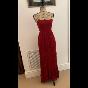 lulu's strapless maxi dress. SZ S. Gorgeous back!